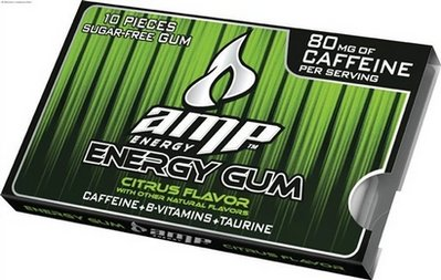 Review Amp Energy Gum Citrus Flavor Caffeine Critic